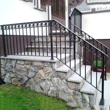 Top venta moderno hierro forjado escaleras pasamanos para - Pasamanos de madera modernos ...