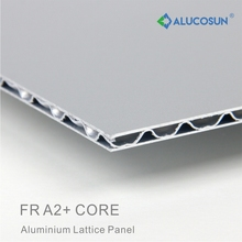 Guaranteed aluminium composite panel with corrugated core lattice panel
