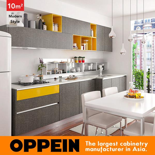 Linéaire Moderne Style Mur Cuisine Cabinet Conception pour Petit ...