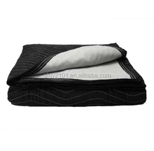 Polyester fabric single moving blanket(Black/White)