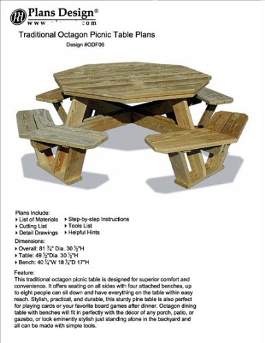 Swell Buy Octagon Picnic Table Benches Plans Diy Outdoor Patio Alphanode Cool Chair Designs And Ideas Alphanodeonline