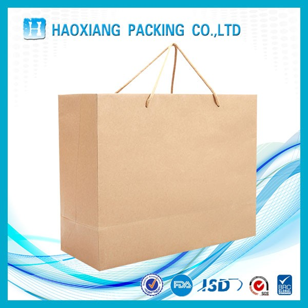 Kraft Paper Bag Custom Printing Clothes Shopping With Handle
