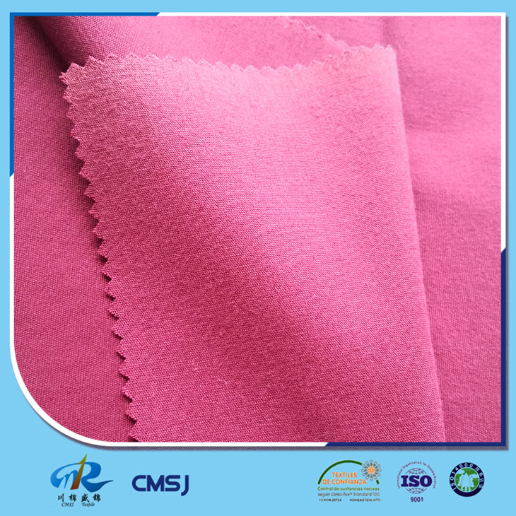 T85/C15 21s 88*54 solid dyed brushed soft plain pattern fabric