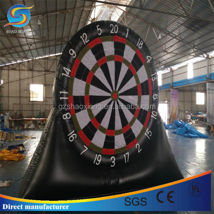 Good quality inflatable dart board for challenge ball shooting race,huge commercial inflatable speed ball shooting goal board
