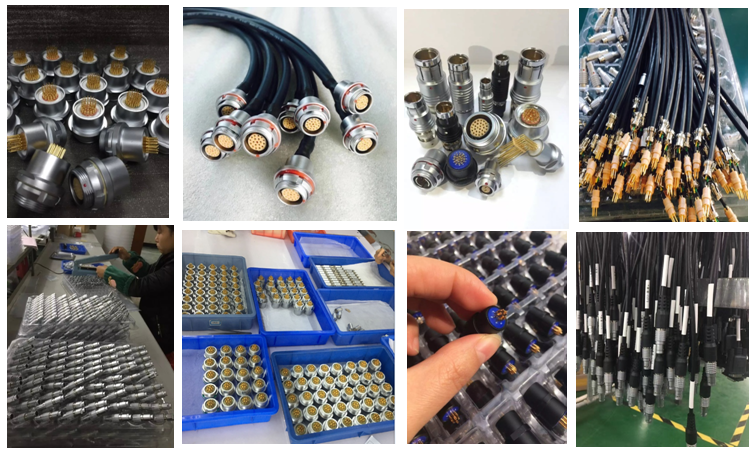 Compatible FFA plug and EXP elbow socket  0S 1S 2 3 4 5 6 pins Low voltage push lock power wire connectors