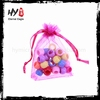 Super black satin organza gift bags pouch for wholesales