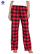 Red Black Plaid Comfortable 100% Cotton Ladies Flannel Pajama Pants