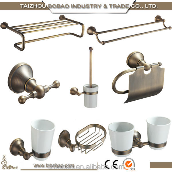 Top quality antique bronze bathroom accessories of gold for Quality bathroom fittings