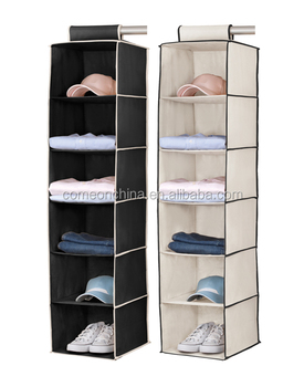 6 Shelf Closet Multi Purpose Hanging Closet Organizer