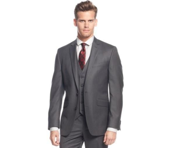 Grey dress wedding tuxedos Hote sale 2015 Modern Tuxedos Gentleman Notch Lepal wedding suits for men classic groom tuxedos