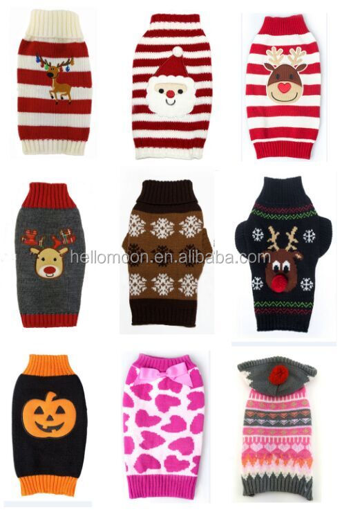 High Quality Handmade Knitted Pattern Wool Dog Sweater