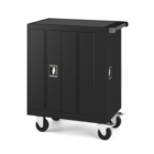 Education Equipment 32 Laptop Chromebooks Tablet Charging Cart With 4 Wheels