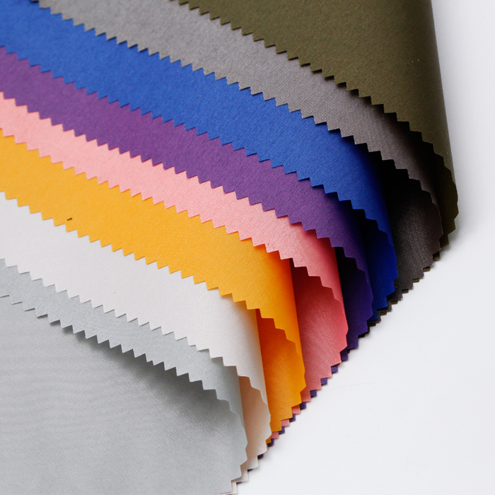 Custom PA Coating Polyester Nylon Silk Blended Twill Fabric