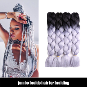 Aliexpress Two Tone Jumbo Ombre Braiding Hair Made of High Quality angels synthetic hair Jumbo Braids