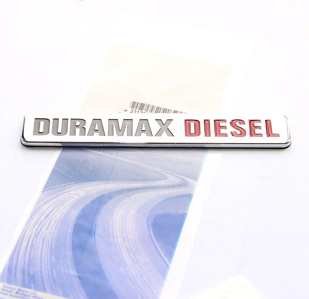 Yoaoo® 1x OEM Duramax Diesel Allison Truck Emblem Badge SILVERADO 2500 3500 HD GMC SIERRA Chrome
