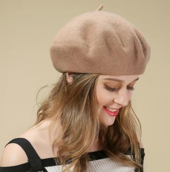 f77404e38d1aa Hot sales Designer Wool Colorful woman hat custom cashmere beret caps hats