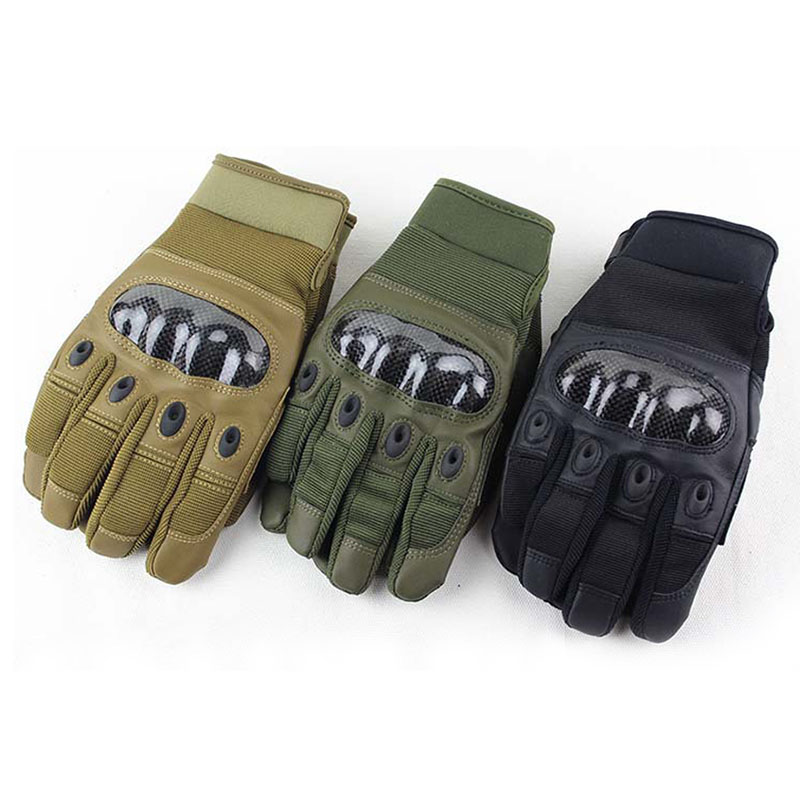 2016 Male Female Full Finger Gloves US Army Tactical Outdoor Sports Training Cut-Resistant Mittens Synthetic Leather