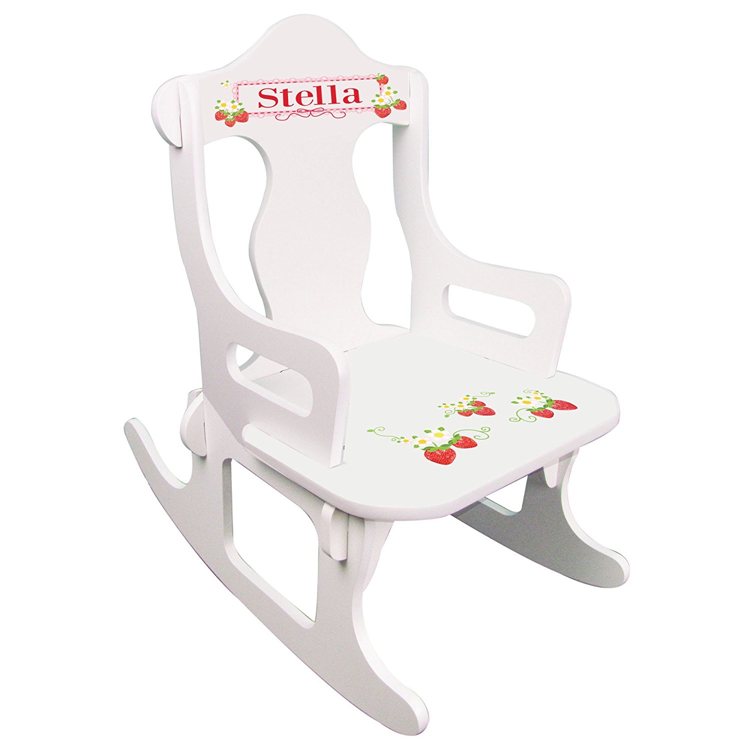 Personalized Strawberries Puzzle Rocker