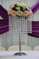 IDA Beads Crystal centerpieces for wedding table, tall flower led lighting stands