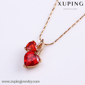 31384 New arrival hot sale 18K gold color heart pendant
