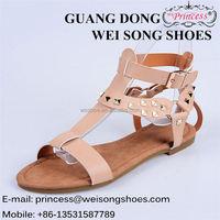 Newest selling unique design PU upper fashion women 2017 sandals shoes