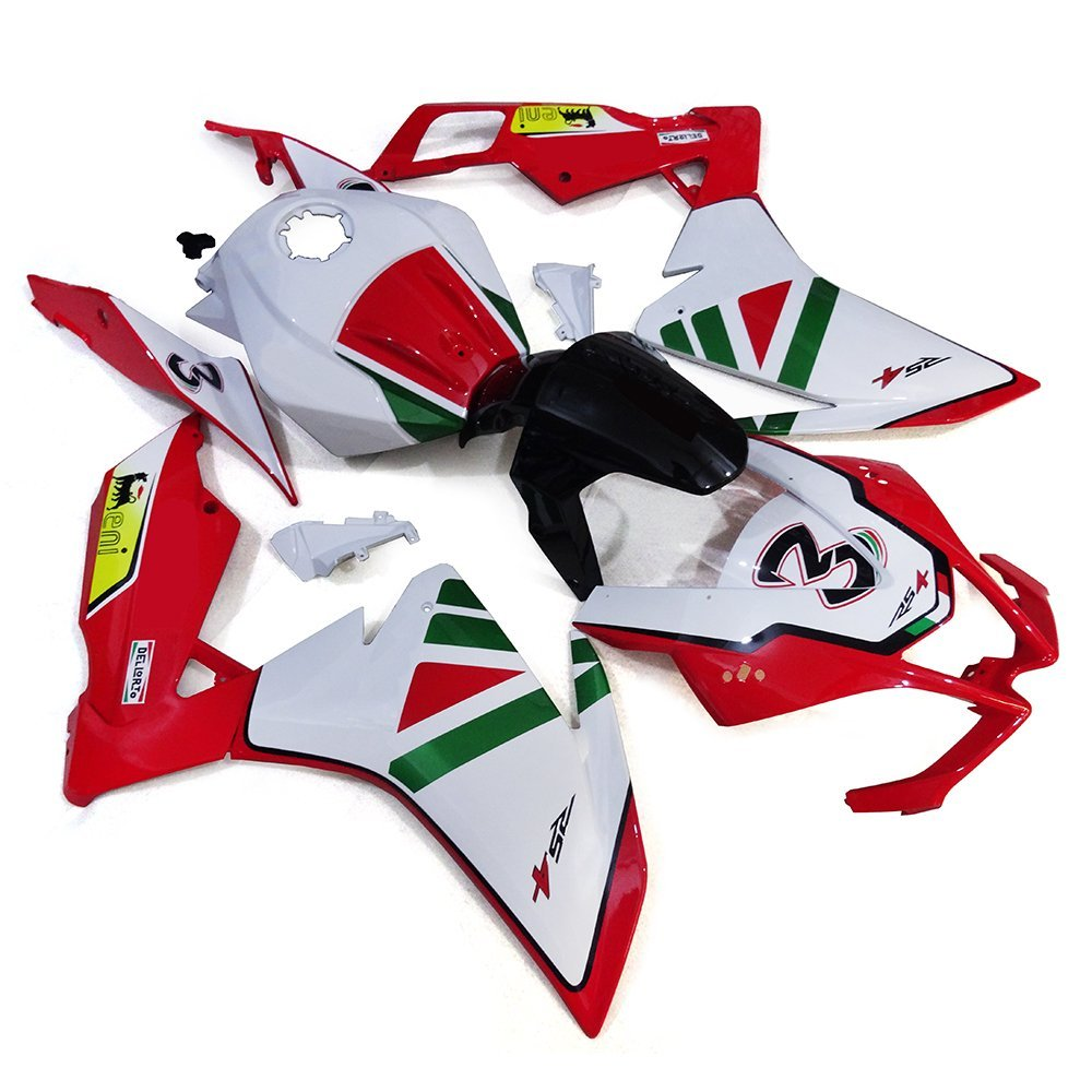 Sportfairings Complete Fairings Injection ABS Body Kits For Aprilia RS4 125 2012 Motorcycle Body Kits White Red Green Covers