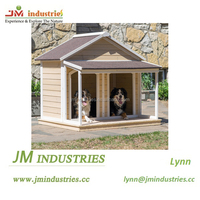 Plush design double dog house in high grade