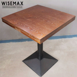 Vintage Restaurant Furniture Restaurant Wooden Tables Top with iron legs Dinning Table for restaurant