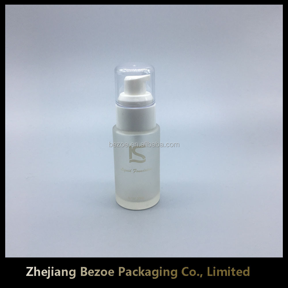 30ml airless pump bottle for foundation cream use glass materials in Zhejiang