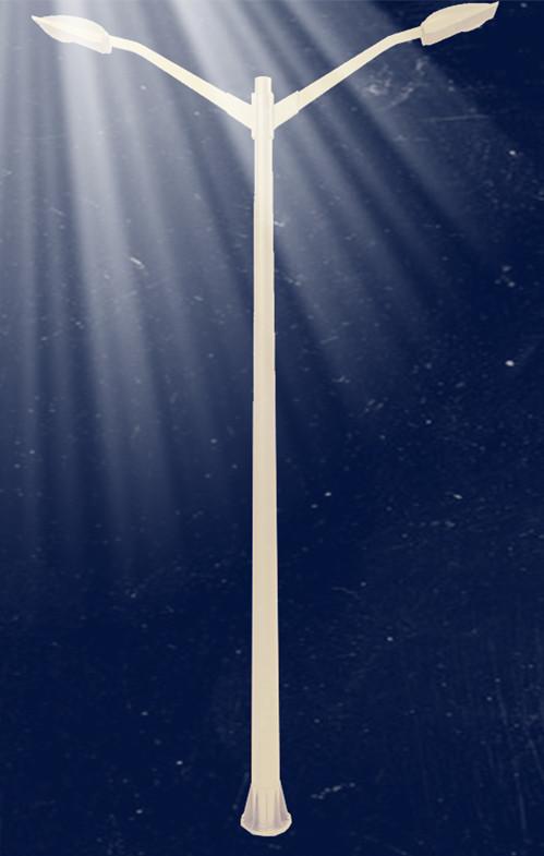 6m Street Lighting Pole Garden Lighting Pole   Double Arm FRP Base