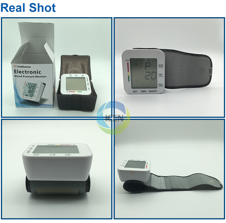 IN-G085 Digital MIni Portable Heart Race Health Care Manual Wrist Watch Blood Pressure Monitor