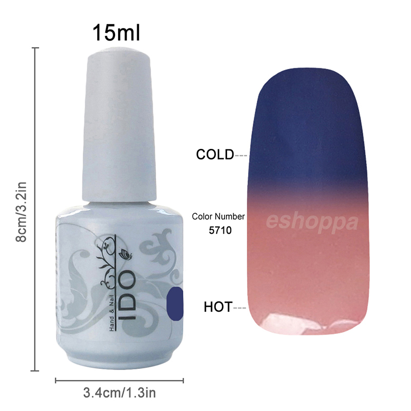48 Colors IDO 5710 Colored UV Gel Polish Wholesale Nail Supplies Color Changing Nail Enamel