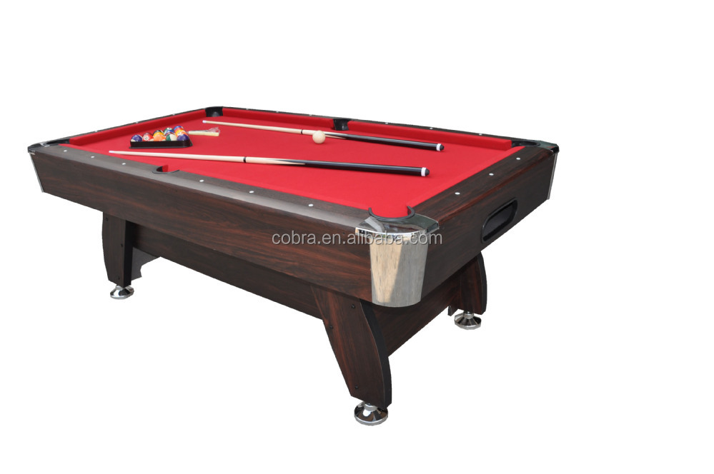 Red Carpet Billiard Table With Automatic Ball Return System,7 Feet Home Use Pool  Table