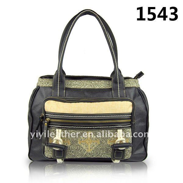 1543-2013 Latest Designer Hand bag and hot sale embroidery tote bag with compartments