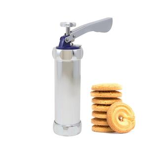 Homemade aluminum manual stainless steel cookie press gun and biscuit maker for homeuse hot selling on Amazon