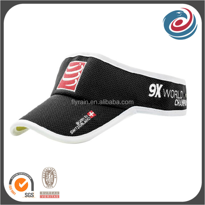 custom designed polyester visor hat summer sports caps healthy fabric hats