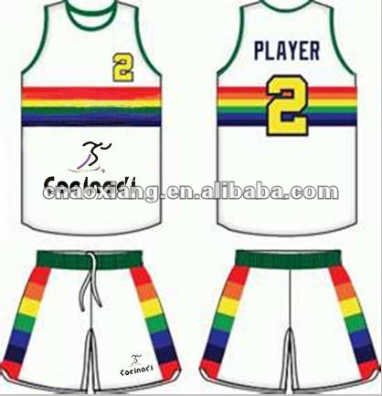High mid grade smart design basketball kits, basketball jersey