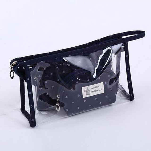 HOT! Fashion Clear PVC Waterproof Cosmetic/Wash Bath /Wash Bag