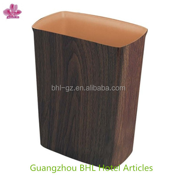 Open top small pu leather trash can, square fireproof waste basket for home office, 2014 canton fair product GPX-158(PW-45)