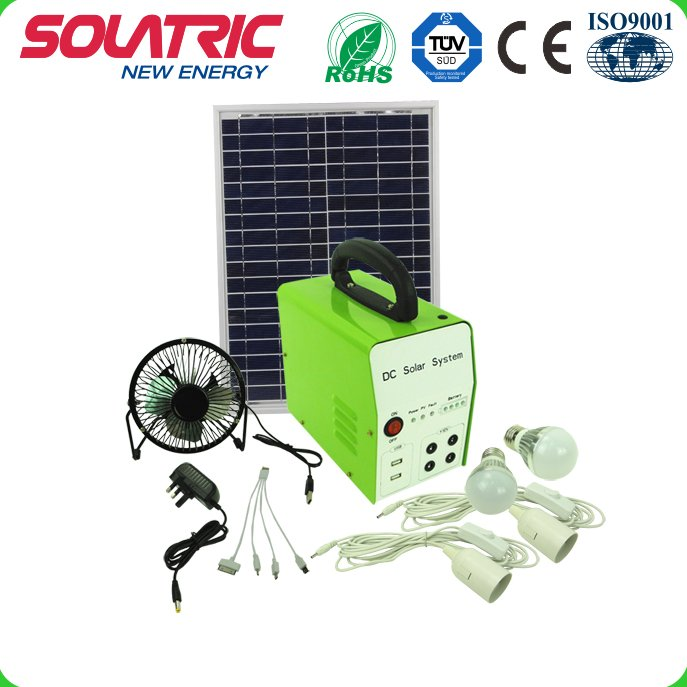 30W 24AH fortable Small Solar Panel System for house lighting
