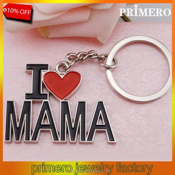 I Love Mama Letter Heart Key Chains Best Trinket Mother's Day Gift Key Ring  Jewelry - Buy M Letter Key Chain,Mother's Day Key Ring,Heart Keychain