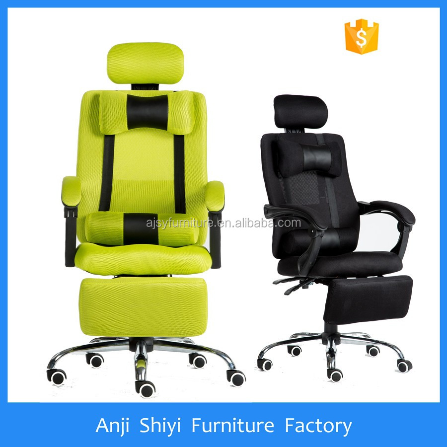 HOT sale swivel chair with footrest and neckrest mesh racing style office chair