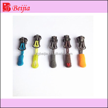 Custom silicone rubber zipper puller with cord for pen bag