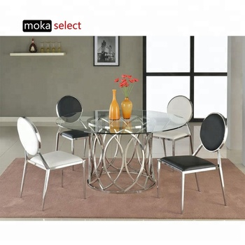 Fantastic Modern Chinese Round Industrial Stainless Steel Event Wedding Dining Room Furniture Table With Glass Designs And Chair Sets Buy Chinese Antique Gmtry Best Dining Table And Chair Ideas Images Gmtryco