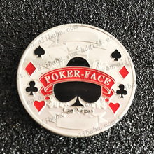 Poker Face Custom Zinc Alloy Coin Tokens Commemorative