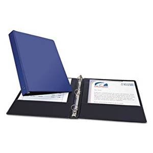 """""""Economy Non-View Binder With Round Rings, 11 X 8 1/2, 1"""""""" Capacity, Blue"""""""