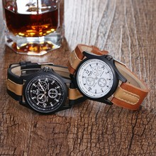Sloggi hotselling watch three-eye man military quartz strap watch men wrist watch