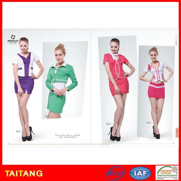 2017 high quality hot sell newest design new arrival sexy sales uniform for sales promotion