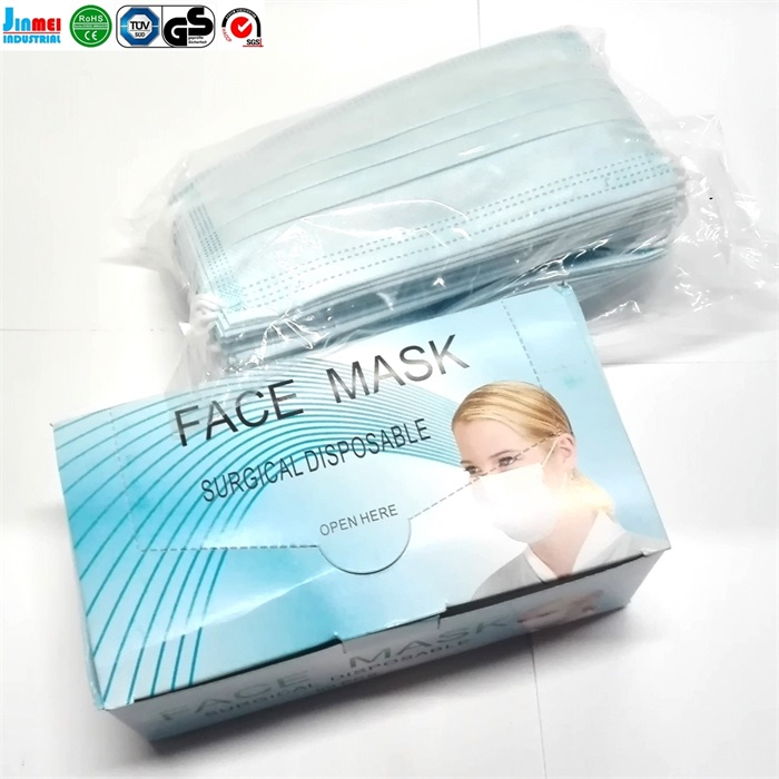 China factory FDA approved disposable surgical 3 ply face mask with earloop