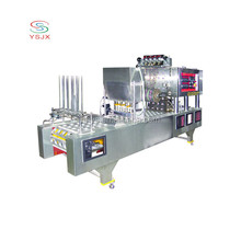 automatic rotary soybean milk cup/plastic k cup filling sealing machine for sale